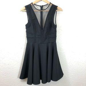 NWT Keepsake the Label Black Beaded Mini Dress